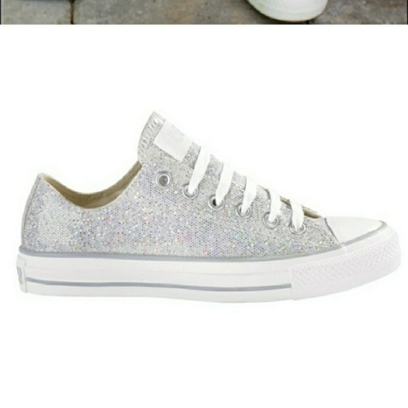 Converse Shoes - Very cute silver sparkly converse all stars 52a8c2bc19